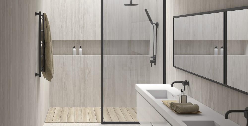 Platen Voor Badkamer : Badkamer in keramische xxl platen vloeren peeters